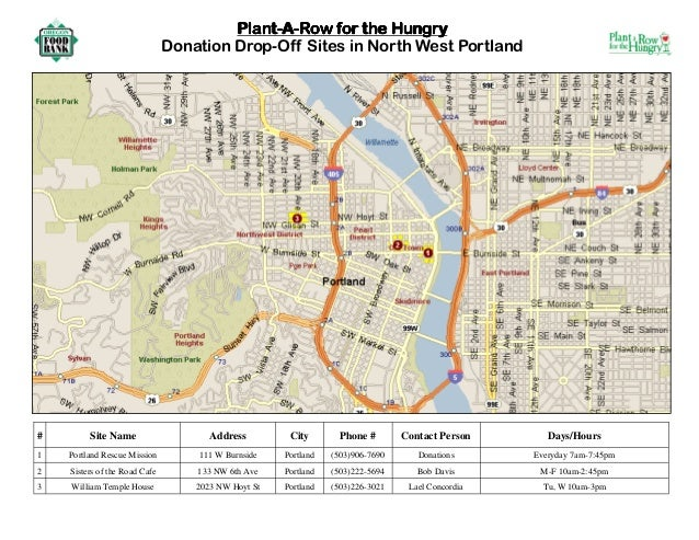Plant a Row for the Hungry - North West Portland, Oregon Food Bank