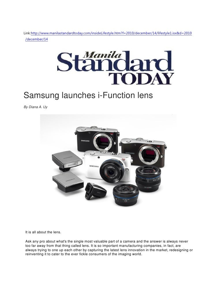 Samsung launches i-Function lens