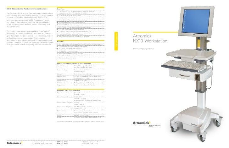 Artromick Nx10 Mobile Computing Cart Brochure