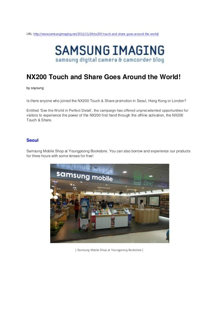 Nx200 touch and share goes around the world! (samsung imaging)