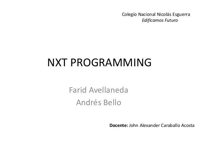 Nxt programming