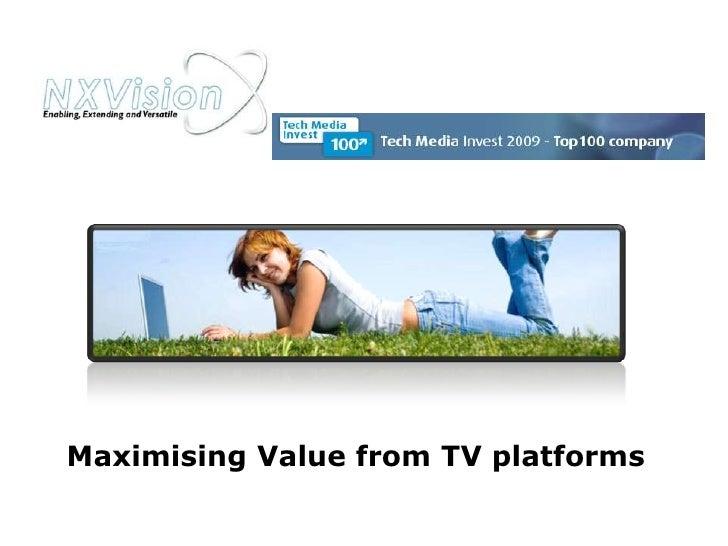 Nxv Presentation Value Nov 09