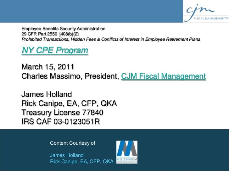NY CPE Program ERISA audits