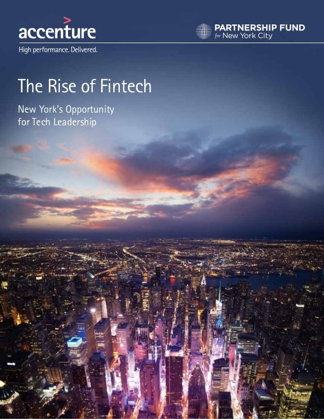 The Rise of Fintech New York's Opportunity for Tech Leadership