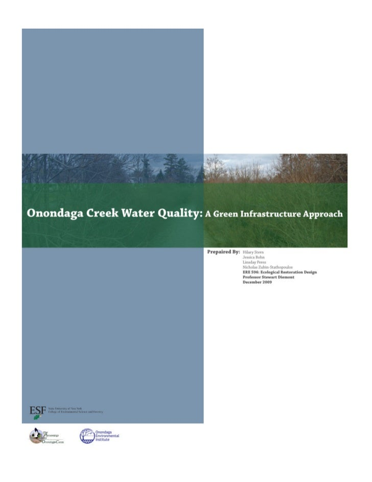 NY: A Green Infrastructure Approach - Onondaga Creek Water Quality