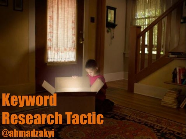 KeywordResearch Tactic@ahmadzakyi