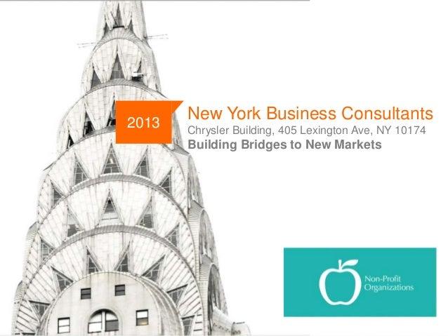 2013  New York Business Consultants Chrysler Building, 405 Lexington Ave, NY 10174  Building Bridges to New Markets  NYBC ...