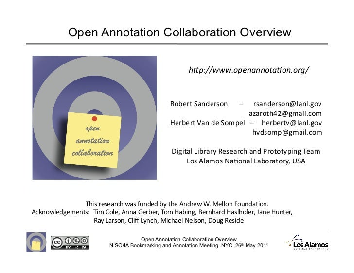 "Open Annotation Collaboration Overview                                                       h""p://www.openannota-on.org/