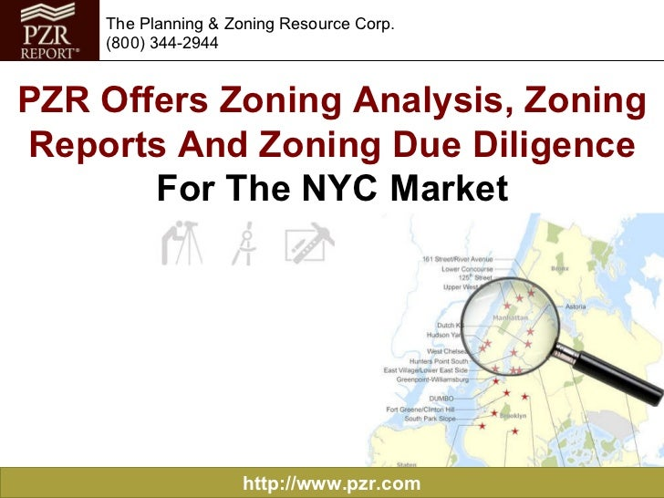 PZR Offers Zoning Analysis, Zoning Reports and Zoning Due Diligence for the NYC Market