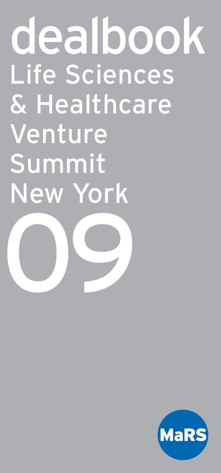 Life Sciences and Healthcare Venture Summit DealBook