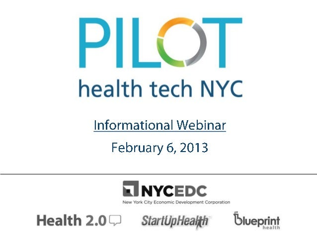 PILOT Health Tech NYC Webinar Slidedeck