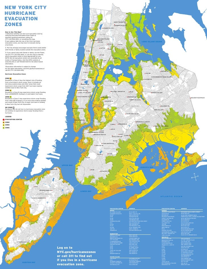 NYC Hurricane Evacuation Map