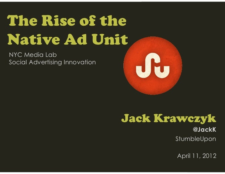 The Rise of Native Advertising