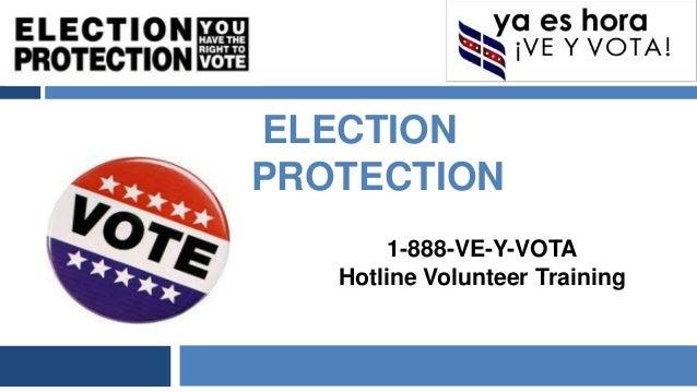 NYC Ve y Vota Hotline Volunteer Training
