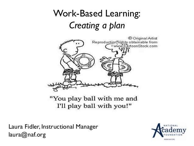 Work-Based Learning:                   Creating a plan                                    Laura Fidler                    ...