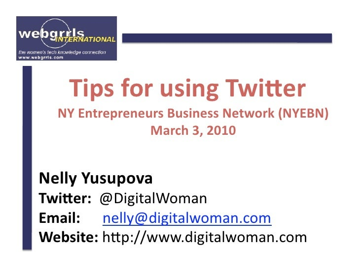 Tips for Using Twitter more Effectively