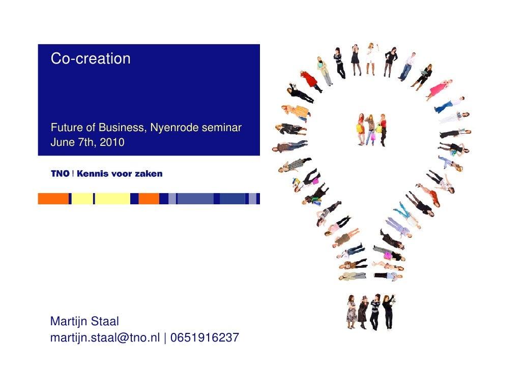 Co-creatie presentatie TNO Nyenrode future of business