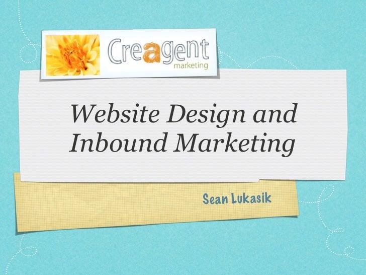 Website Design andInbound Marketing          S ea n Lu k a si k