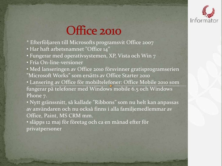 Nyheter Office 2010