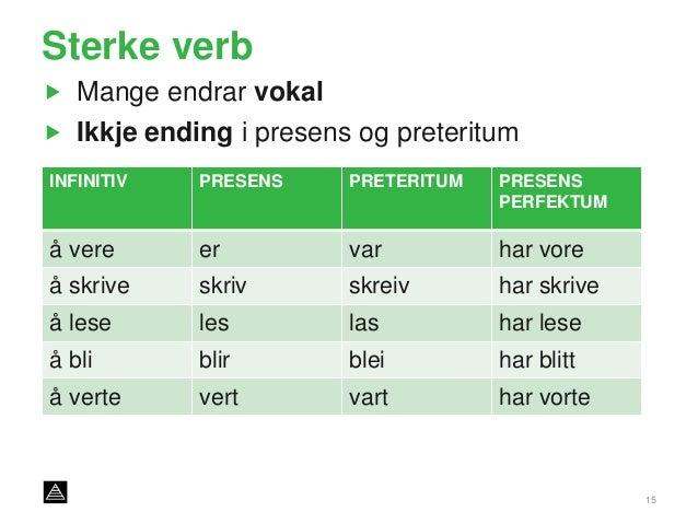 svake verb nynorsk