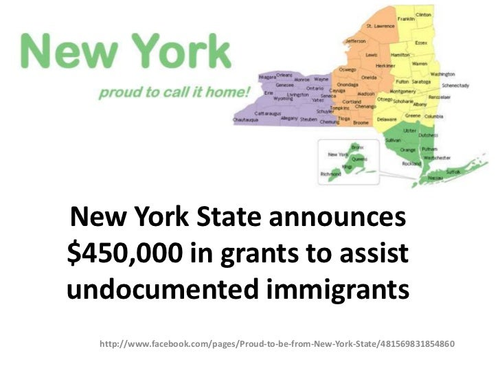 New York State announces$450,000 in grants to assistundocumented immigrants  http://www.facebook.com/pages/Proud-to-be-fro...