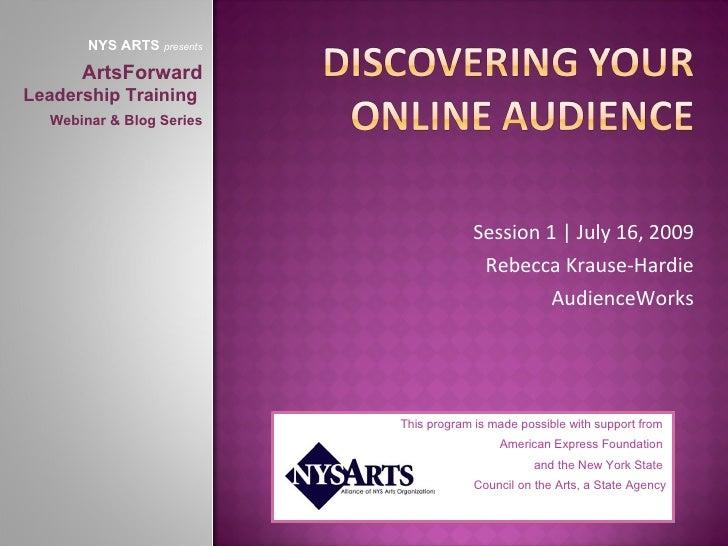 NYS ARTS presents        ArtsForward Leadership Training   Webinar & Blog Series                                          ...
