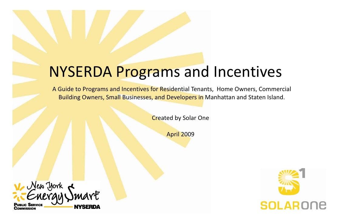 NYSERDA Program Incentives