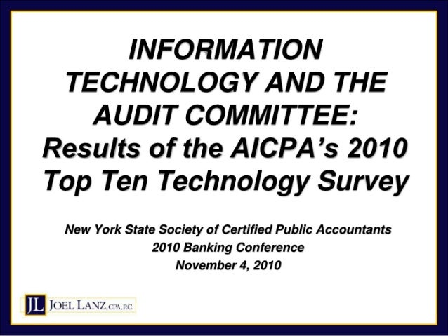 Top IT Concerns of Audit Committees