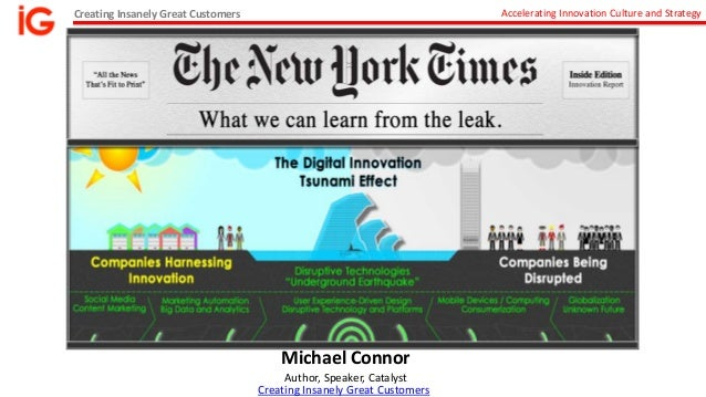 Digital Disruption: Lessons from the New York Times