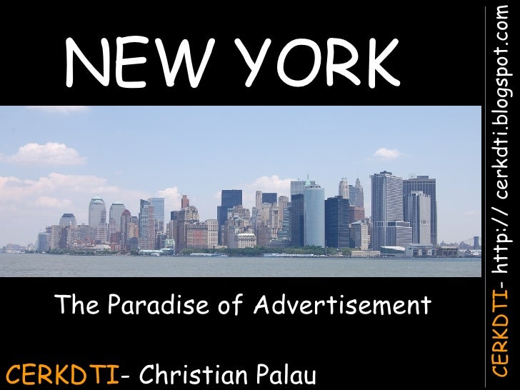 CERKDTI - Christian Palau NEW YORK The Paradise of Advertisement