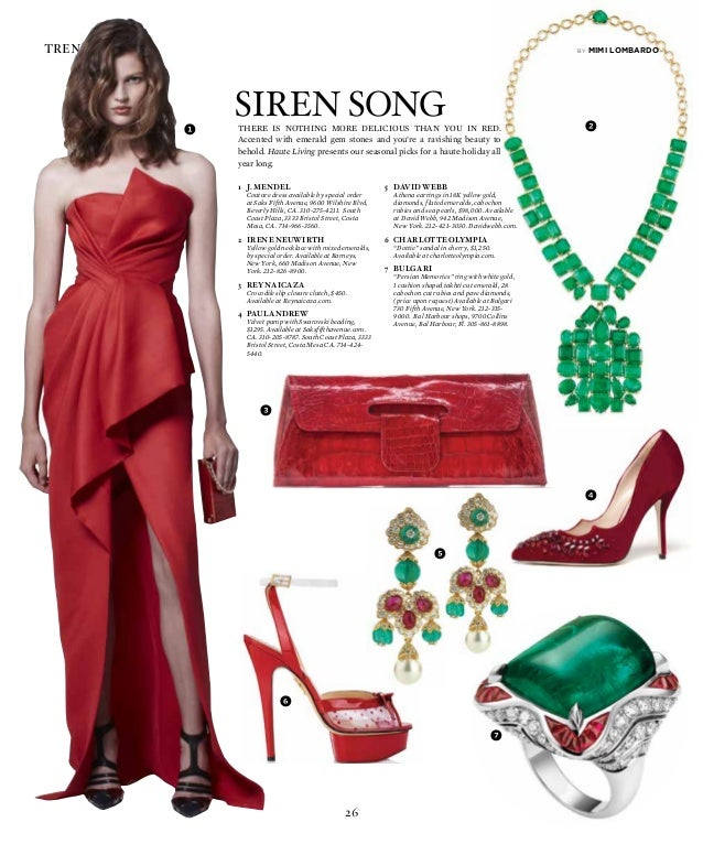 26 trend reports There is noThing more delicious Than you in red. Accented with emerald gem stones and you're a ravishing ...