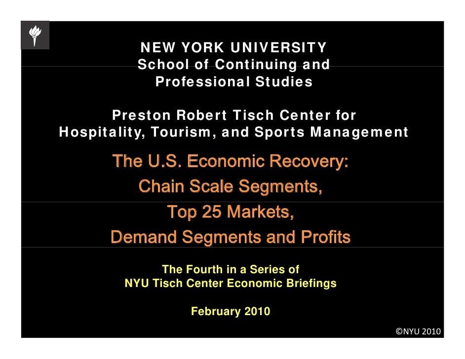 NEW YORK UNIVERSITY           School of Continuing and             Professional Studies        Preston R b t Ti h C t f   ...