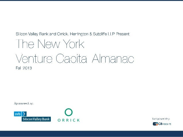 The New York Venture Capital Almanac