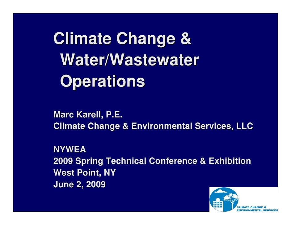 NYWEA Climate Change for Municipalities