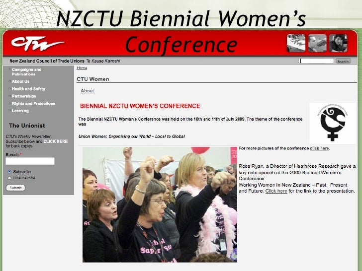 Report back from NZCTU Women's Conference