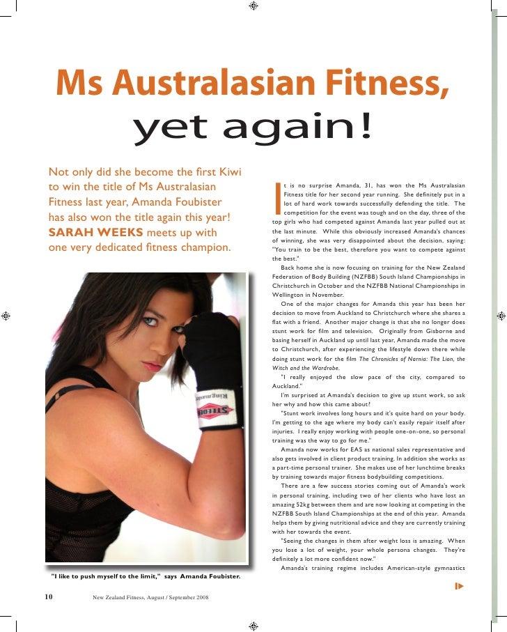 Ms Australasian Fitness - August/September 2008, New Zealand Fitness