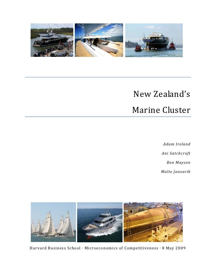 Nz Marine Cluster May 12 Report
