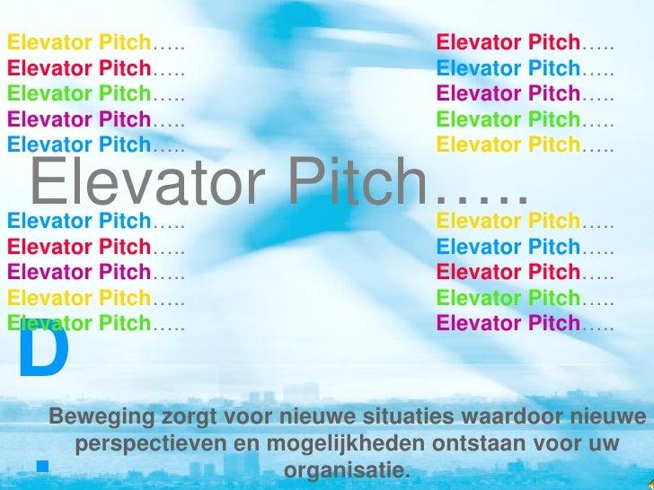 NZP 2010 workshop Elevator Pitch