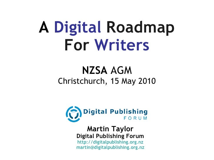 A Digital Roadmap for Writers