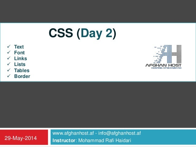 CSS_Day_Two (W3schools)