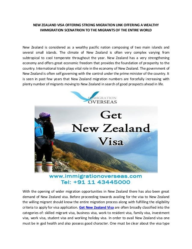 NEW ZEALAND VISA OFFERING STRONG MIGRATION LINK OFFERING A WEALTHY IMMIGRATION SCENATRION TO THE MIGRANTS OF THE ENTIRE WO...