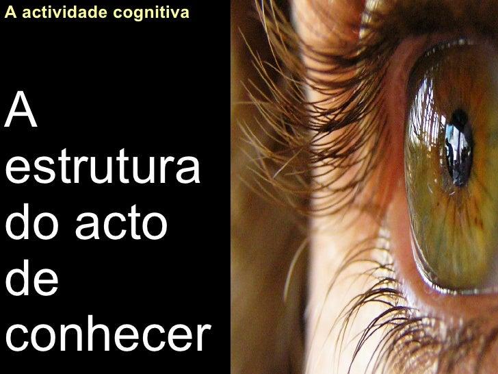 A actividade cognitiva A estrutura do acto de conhecer