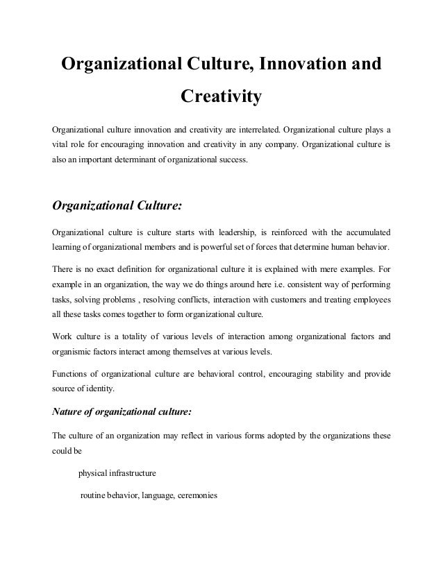 O.b assignment of orgnization culture