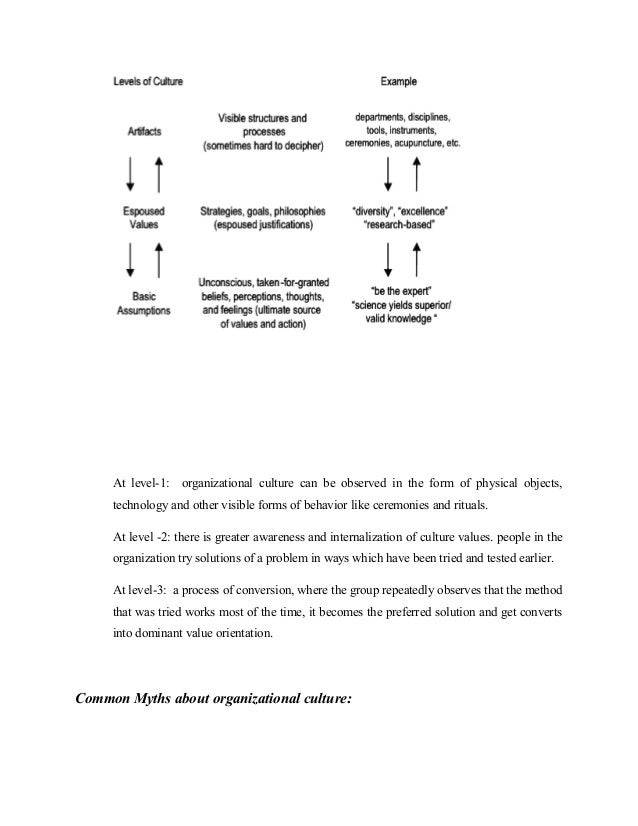 determinants of organisational culture pdf