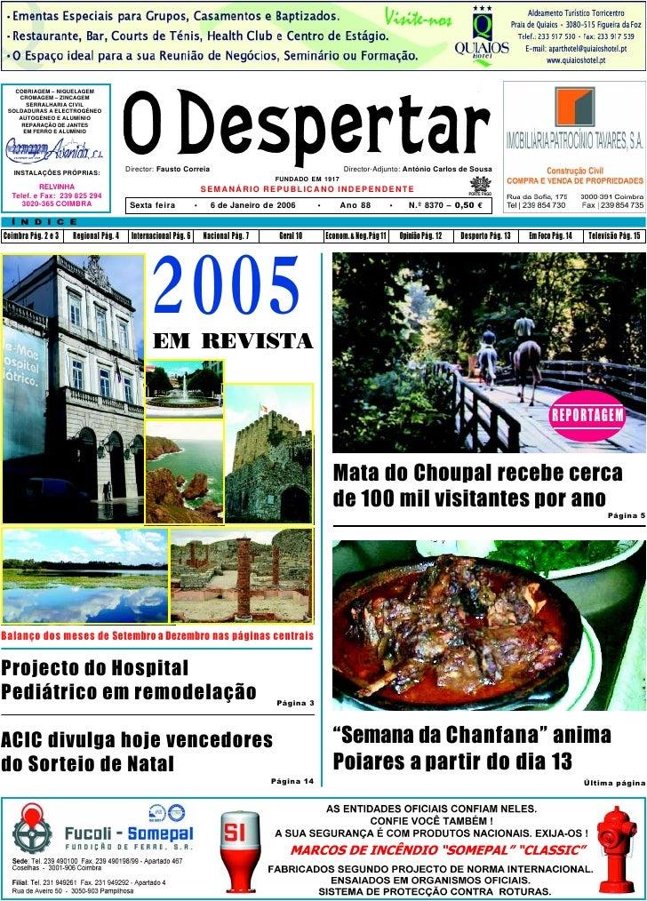 O Despertar – 8370 – 6.01.2006