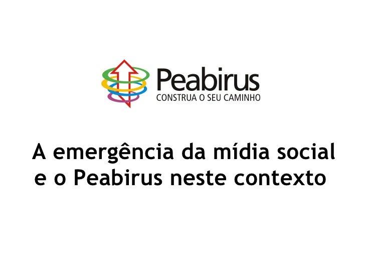 O Peabirus na Mídia Social