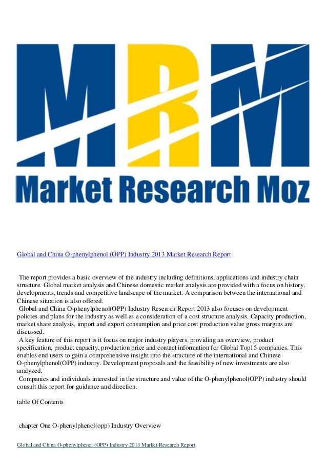 Global and China O-phenylphenol (OPP) Industry 2013 Market Research Report The report provides a basic overview of the ind...