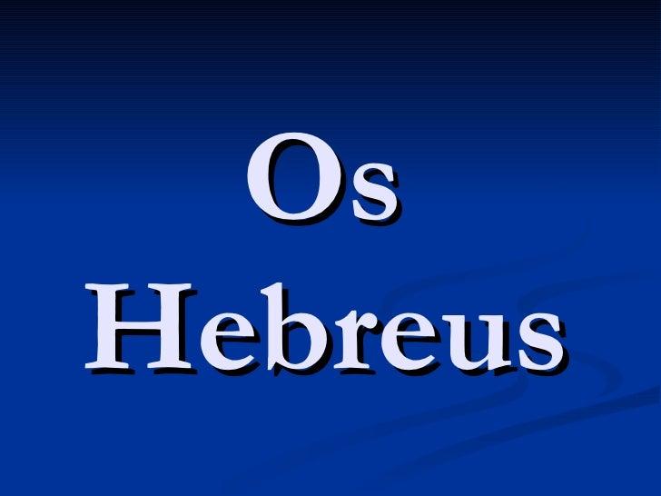O Povo Hebreu