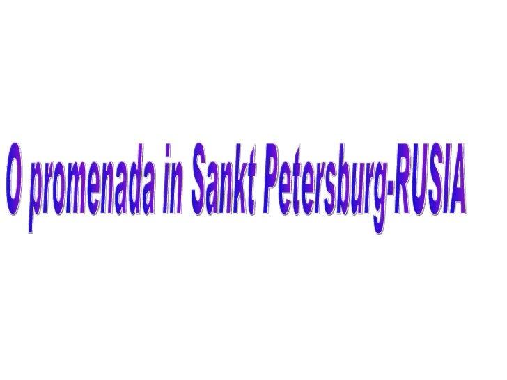 O promenada in Sankt Petersburg-RUSIA