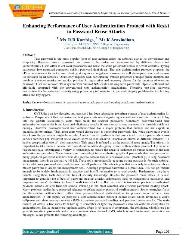 International Journal Of Computational Engineering Research (ijceronline.com) Vol. 2 Issue. 8Enhancing Performance of User...